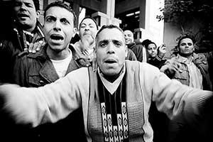 Strejkende arbejdere i Kairo