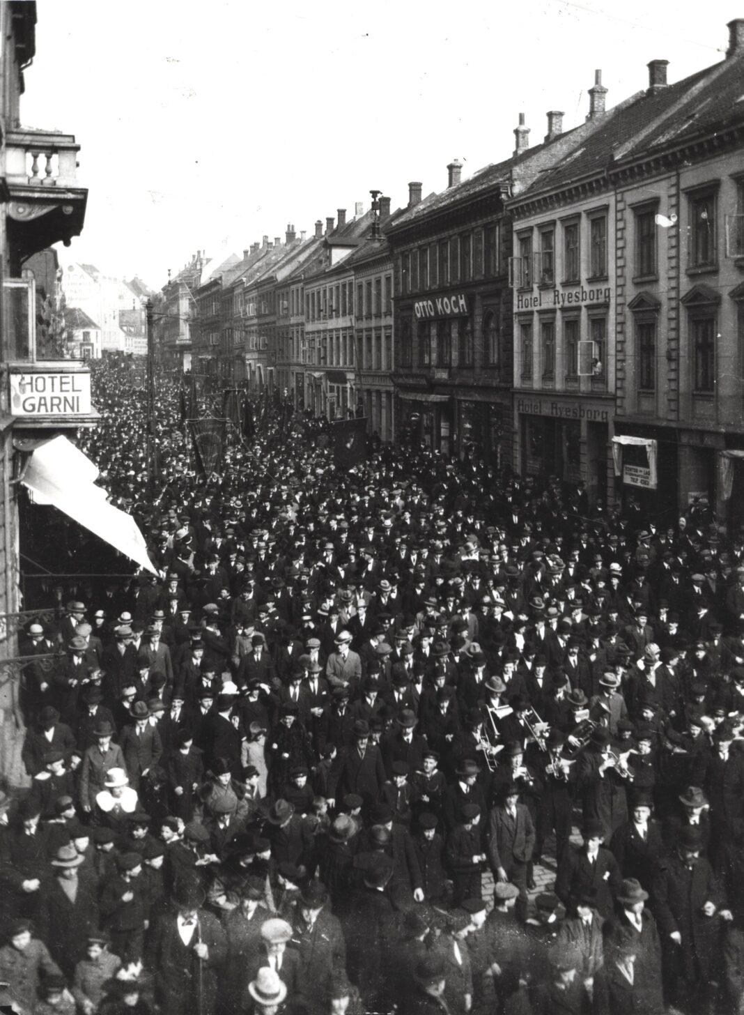 Demonstration i Århus 1920
